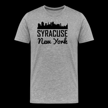 Syracuse New York Skyline - Men's Premium T-Shirt