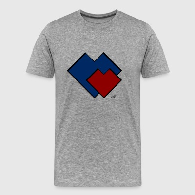 Two hearts C - Men's Premium T-Shirt