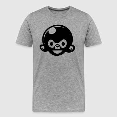 big headed monkey ape - Men's Premium T-Shirt