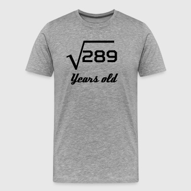 Square Root Of 289 17 Years Old - Men's Premium T-Shirt
