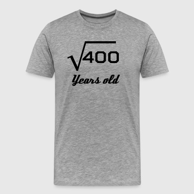 Square Root Of 400 20 Years Old - Men's Premium T-Shirt