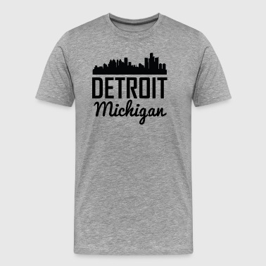 Detroit Michigan Skyline - Men's Premium T-Shirt