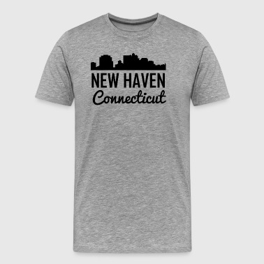 New Haven Connecticut Skyline - Men's Premium T-Shirt