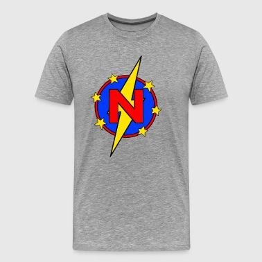 My Little Super Hero Kids & Baby Letter N - Men's Premium T-Shirt