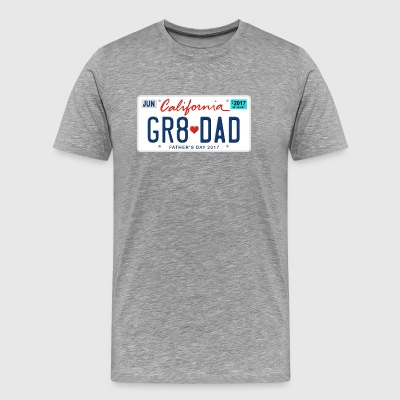 Great Dad - Happy Father's Day - California State - Men's Premium T-Shirt