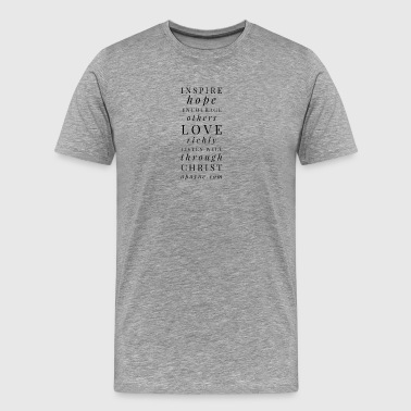 Inspire, encourage, love, listen apayne.com - Men's Premium T-Shirt