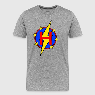 My Little Super Hero Kids & Baby Letter H - Men's Premium T-Shirt
