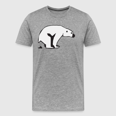 Polar bear is pooping - Men's Premium T-Shirt