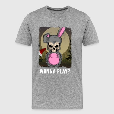 Zombie - Wanna Play ? - Men's Premium T-Shirt