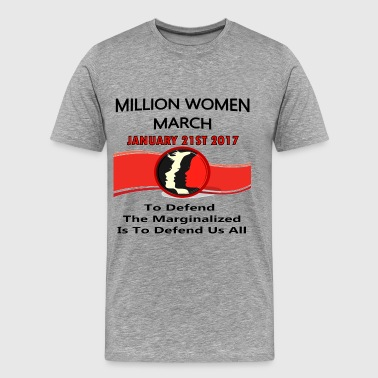 Million Women March Washington DC 1-21-17 - Men's Premium T-Shirt