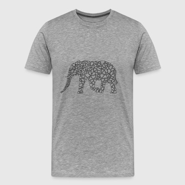 Elephant Geometric - Men's Premium T-Shirt