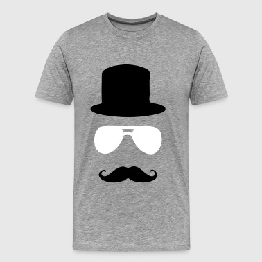 aviator moustache tophat - Men's Premium T-Shirt