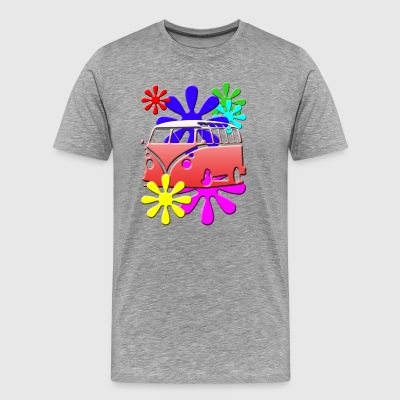 HIPPIE FLOWERS RED shirt - Men's Premium T-Shirt