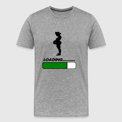 baby loading preg - Men's Premium T-Shirt