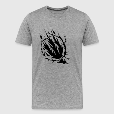 Spooky Tree Silhouette - Men's Premium T-Shirt