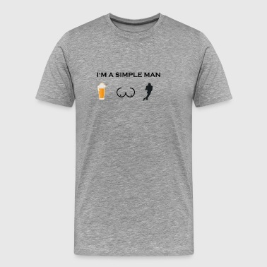 simple man boobs bier beer titten football touchdo - Men's Premium T-Shirt