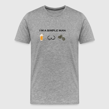 simple man boobs bier beer titten biker ride bike - Men's Premium T-Shirt