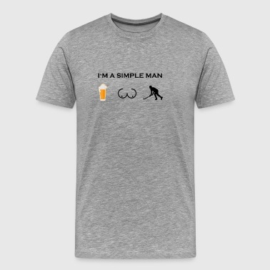 simple man boobs bier beer titten hockey eishockey - Men's Premium T-Shirt