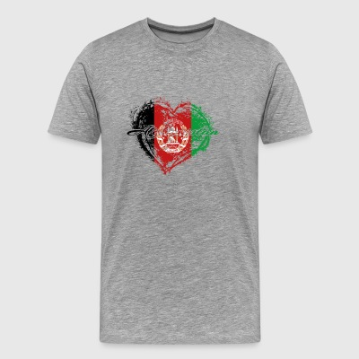 HOME ROOTS COUNTRY GIFT LOVE Afghanistan - Men's Premium T-Shirt