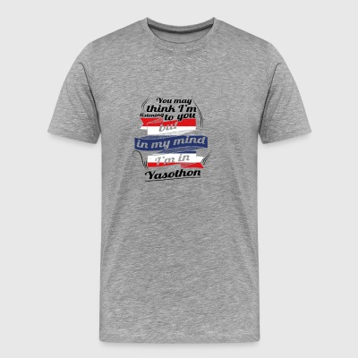 URLAUB HOME ROOTS TRAVEL I M IN Thailand Yasothon - Men's Premium T-Shirt