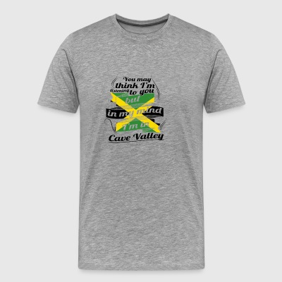 URLAUB jamaika ROOTS TRAVEL I M IN Jamaica Cave Va - Men's Premium T-Shirt