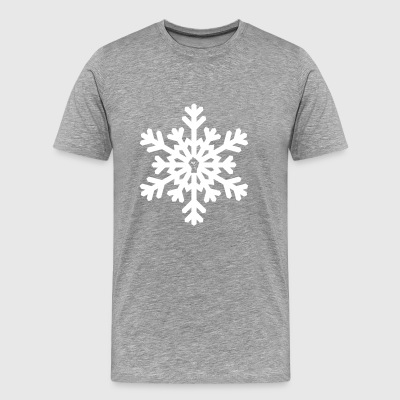 snowflake vector white - Men's Premium T-Shirt