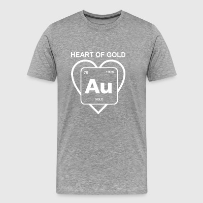 heart of gold periodic table element geek nerd - Men's Premium T-Shirt