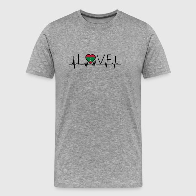 home roots heart love heimat Malediven - Men's Premium T-Shirt