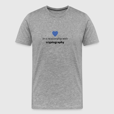 gift single taken relationship with cryptography - Men's Premium T-Shirt