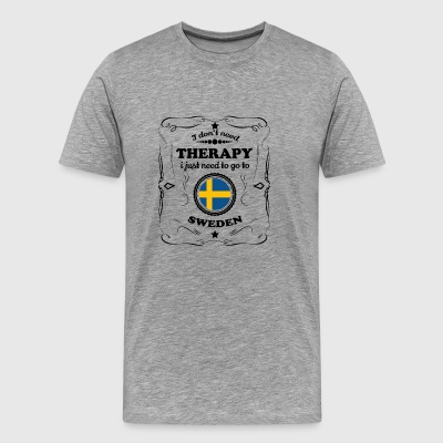 DON T NEED THERAPIE GO SWEDEN - Men's Premium T-Shirt