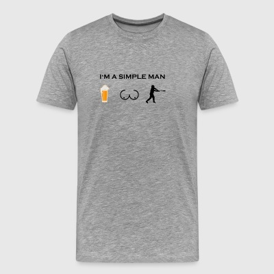 simple man boobs bier beer titten baseball homerun - Men's Premium T-Shirt
