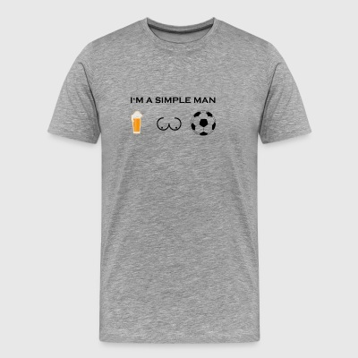simple man boobs bier beer titten fussball ultras - Men's Premium T-Shirt