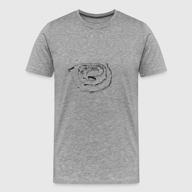 Abstract Art Lines - Men's Premium T-Shirt