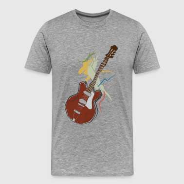 music guitar - Men's Premium T-Shirt