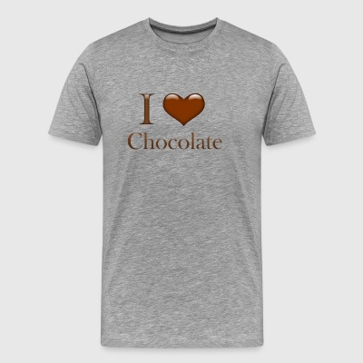 I Heart Chocolate - Men's Premium T-Shirt