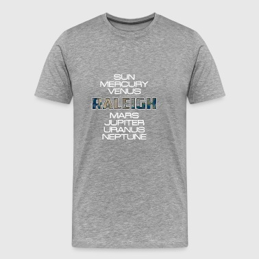 Solar System Planet Earth Raleigh Gift - Men's Premium T-Shirt