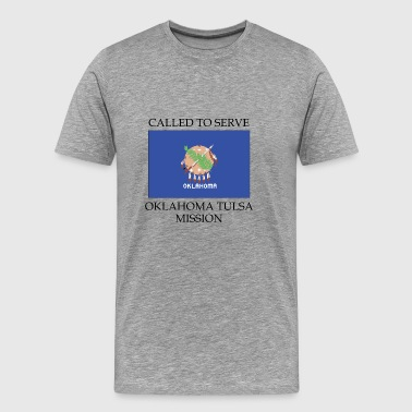 Oklahoma Tulsa LDS Mission Called to Serve Flag - Men's Premium T-Shirt