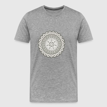 Black Mandala flower - Men's Premium T-Shirt