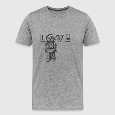 Love Robots Gifts for friends and family, kids - Men's Premium T-Shirt