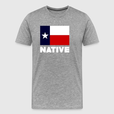TEXAS FLAG NATIVE WHITE - Men's Premium T-Shirt