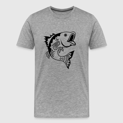 Bass Fish - Men's Premium T-Shirt