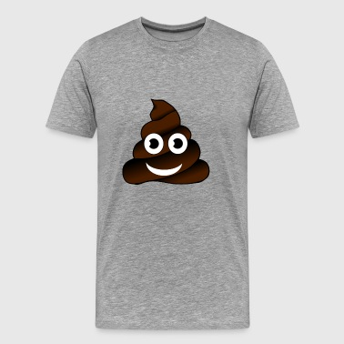 Poop Dung Shit Emoticon Smiley Gift Fart Present - Men's Premium T-Shirt