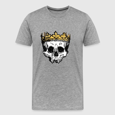 Crown on a Skull - Men's Premium T-Shirt