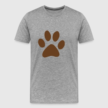 Dog track footprint vector image cartoon awesome - Men's Premium T-Shirt