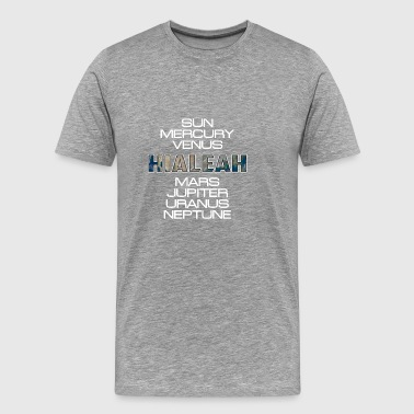 Solar System Planet Earth Hialeah Gift - Men's Premium T-Shirt
