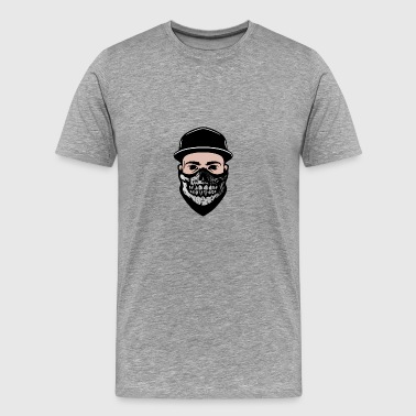 Hidden Face Bandana - Men's Premium T-Shirt