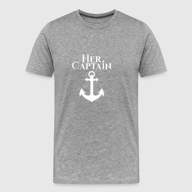 Her Captain Couple Partner Love Gift Chrismas - Men's Premium T-Shirt