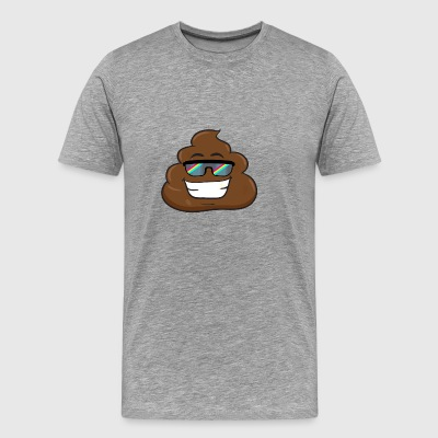 Emoticon Poop Face Big Smile Rainbow Sunglass - Men's Premium T-Shirt