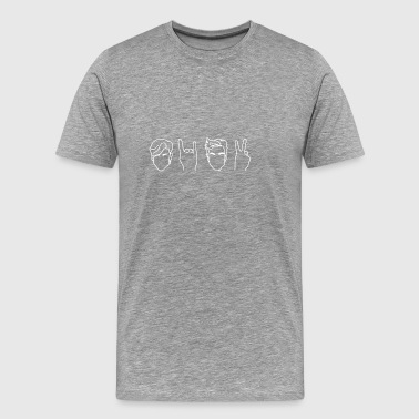 Dolan Twins- outline white - Men's Premium T-Shirt