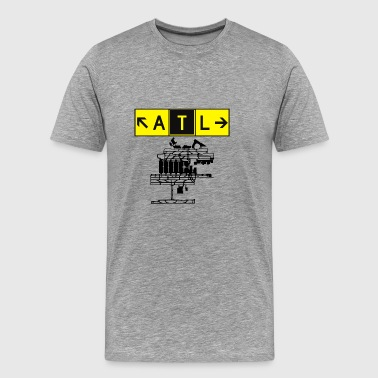 ATL Atlanta Airport Taxiway Direction Sign Array - Men's Premium T-Shirt